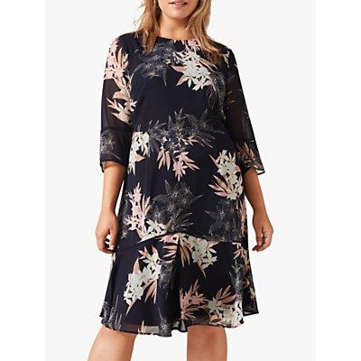 Studio 8 Aimee Floral Print Dress, Navy/Multi