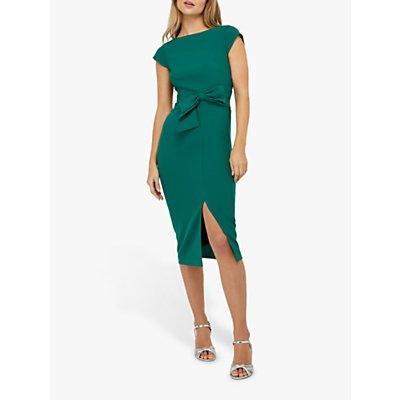 Monsoon Tilda Bow Shift Dress, Green