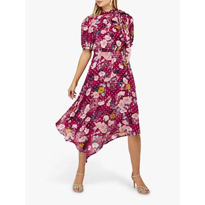 Monsoon Frances Floral Spot Print Dress