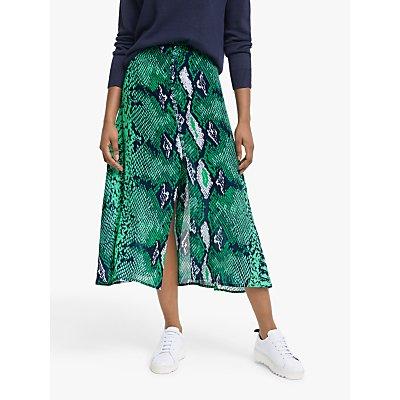 Mercy Delta Moulton Snake Print Skirt, Green