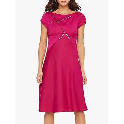 Damsel in a Dress Delia Colour Block Button Detail Dress, Purple