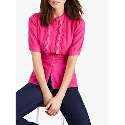 Damsel in a Dress Floria Pleated Blouse, Magenta