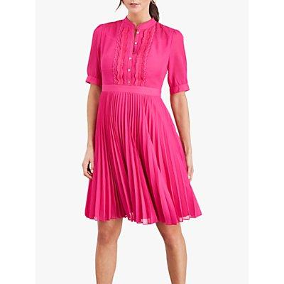 Damsel in a Dress Floria Pleated Dress, Magenta