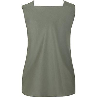 Theory Twist Neck Silk Top, Pale Green