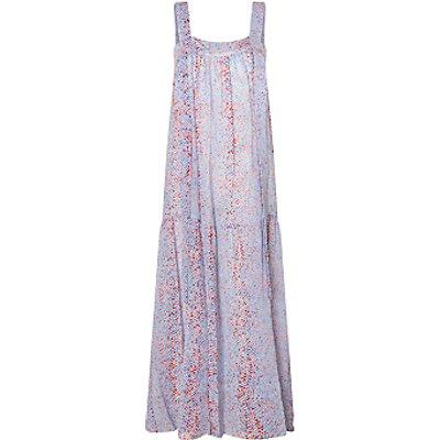 See By Chloé Python Print Silk Mix Maxi Dress, Multi
