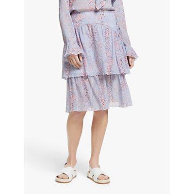 See By Chloé Python Print Ruffle Skirt, Multi