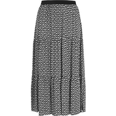 Persona by Marina Rinaldi Cento Printed Skirt, Black/Multi