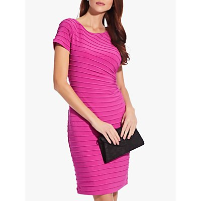 Adrianna Papell Pintuck Drape Sheath Dress