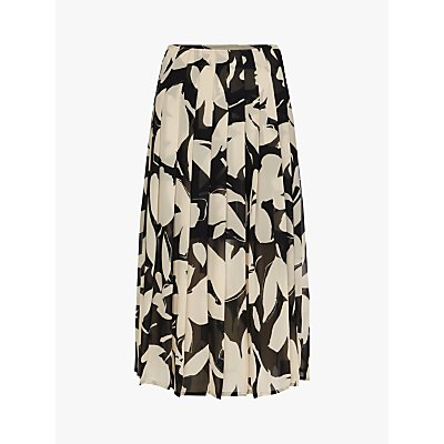 Calvin Klein Knife Pleat Floral Print Skirt, Multi