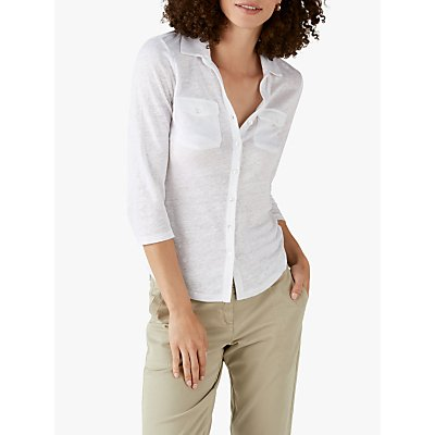 Pure Collection Linen Jersey Top