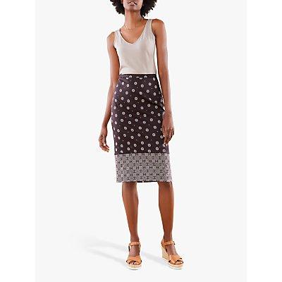 Pure Collection Pencil Skirt, Foulard Border Print