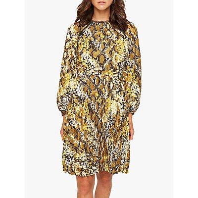 Damsel in a Dress Naia Snake Print Dress, Yellow