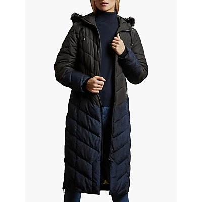 Ted Baker Hylea Chevron Quilted Coat, Black