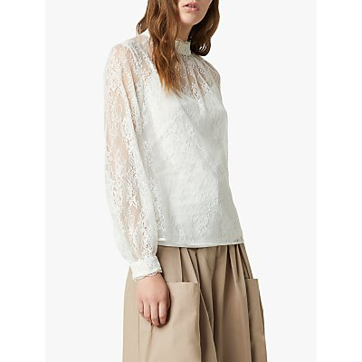 French Connection Apunda Lace Top, Summer White