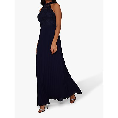 Chi Chi London Eulia Embroidered Maxi Dress, Navy