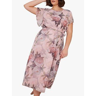 Chi Chi London Curve Shantal Dress, Pink