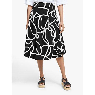 Masai Copenhagen Sally Printed Midi Skirt, Black