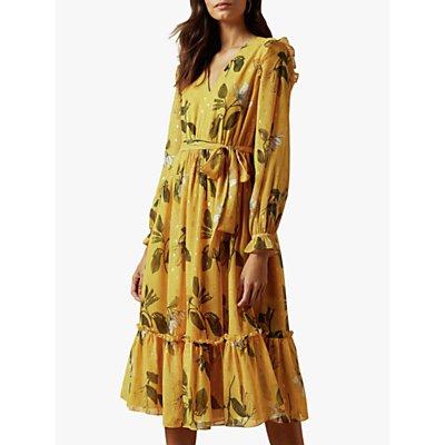 Ted Baker Elissea Savanna Long Sleeve Dress, Yellow Mid