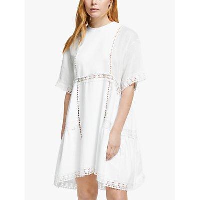 See By Chloé Braided Jersey Dress, White Powder