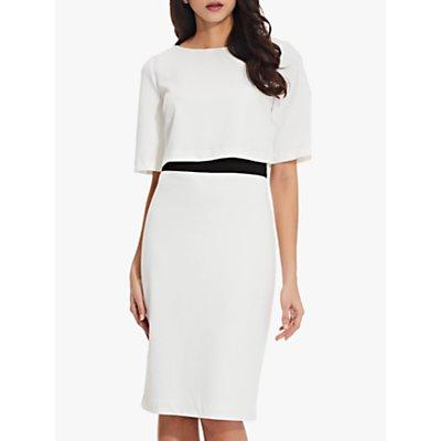 Adrianna Papell Layered Sheath Dress, Ivory/Black