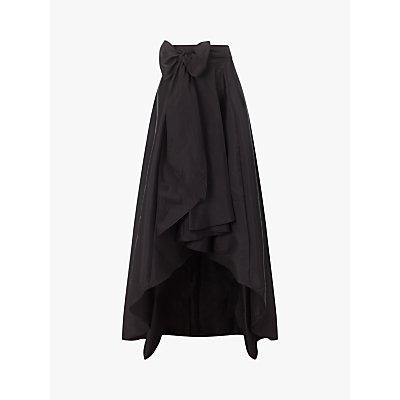 Adrianna Papell High Low Ball Maxi Skirt, Black