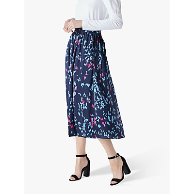 Finery Albyn Printed Tie Waist Skirt, Multi