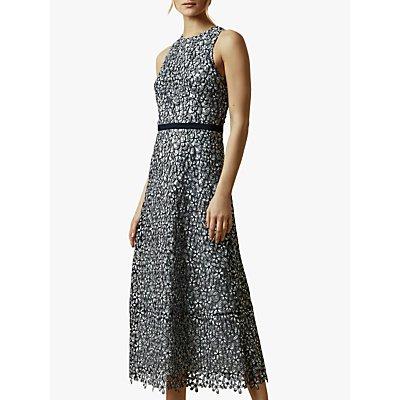 Ted Baker Edella Floral Lace Evening Dress, Light Blue