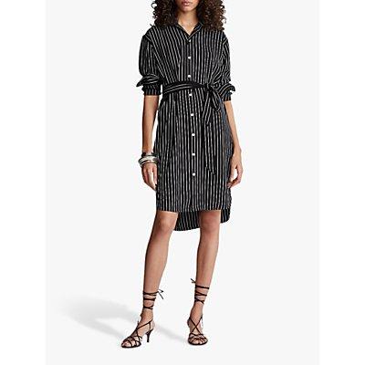 Polo Ralph Lauren Stripe Shirt Dress, Polo Black/White