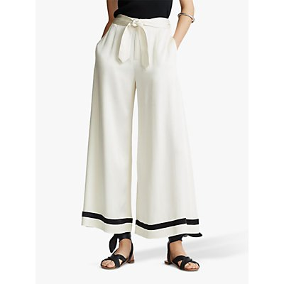 Polo Ralph Lauren Wide Leg Trousers, Cream