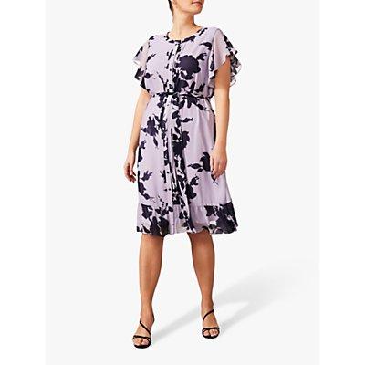 Studio 8 Aiden Floral Printed Knee Length Dress, Purple