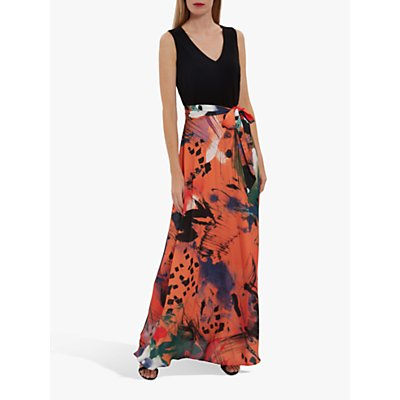 Gina Bacconi Ravenna Floral Print Skirt Maxi Dress, Multi