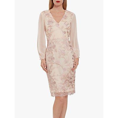 Gina Bacconi Venetia Floral Dress, Nude Pink