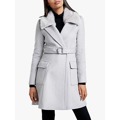 Forever New Susane Wrap Coat, Mink