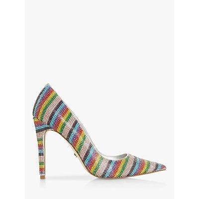 Dune Buena Embellished Rainbow Court Shoes, Multi
