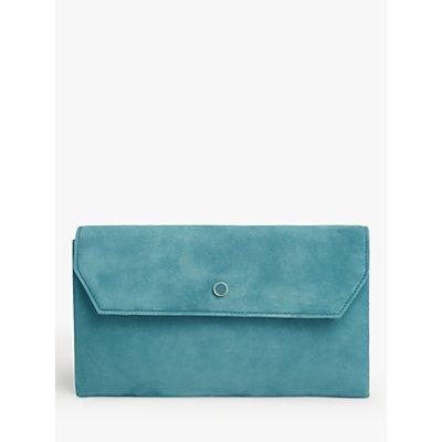 L.K.Bennett Dora Suede Clutch Bag, Blue