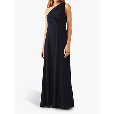 Ghost Jess Asymmetric Dress, Navy