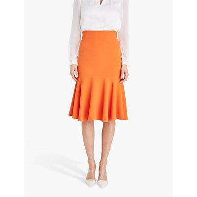 Damsel in a Dress Sati Fluted Midi Skirt, Orange