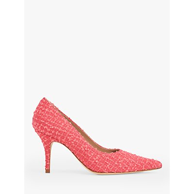 L.K.Bennett Harmony Pointed Toe Tweed Court Shoes, Pink Candy
