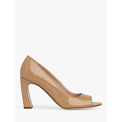 L.K.Bennett Harper Patent Peeptoe Court Shoes