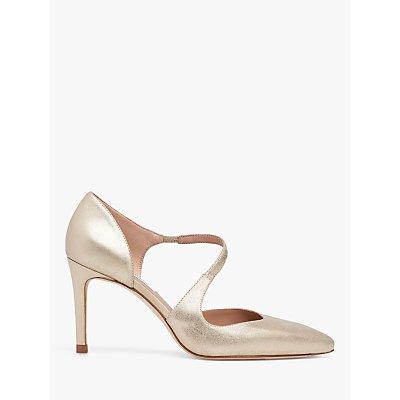 L.K.Bennett Victoria Asymmetric Cut Court Shoes, Gold