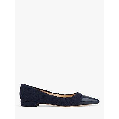 L.K.Bennett Perth Flat Court Shoes, Navy