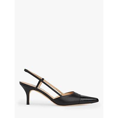 L.K.Bennett Hally Leather Kitten Heel Court Shoes