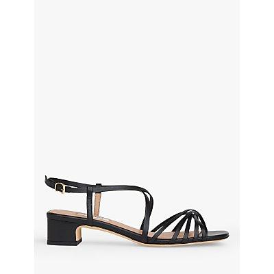 L.K.Bennett Newport Multi Strap Low Block Heel Leather Sandals