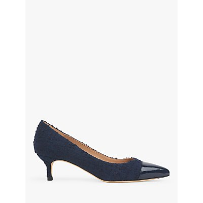 L.K.Bennett Audrey Tweed Pointed Toe Court Shoes, Navy