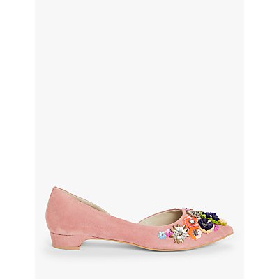Boden Cynthia Embellished Suede Flats