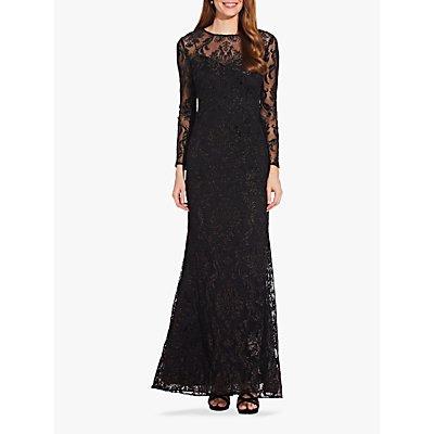 Adrianna Papell Emblem Embellished Dress, Black