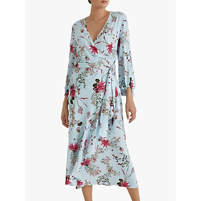 Fenn Wright Manson Lynette Floral Wrap Dress, Spring Blossom