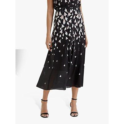 Fenn Wright Manson Blanchefleur Petal Print Midi Skirt, Black