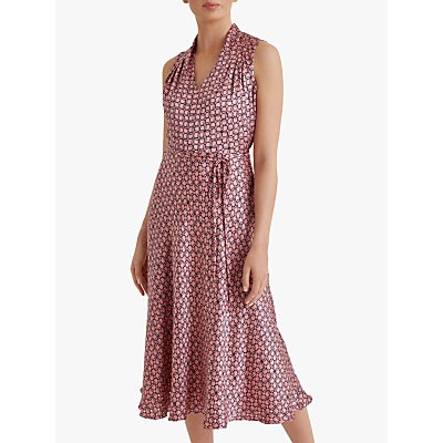 Fenn Wright Manson Petite Nadiya Dress, Coral/Navy Geo