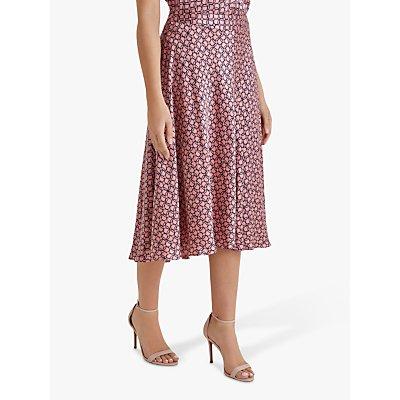 Fenn Wright Manson Petite Nadiya Skirt, Coral/Navy Geo